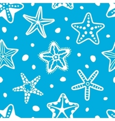 sea seamless pattern with starfish vector image vector image