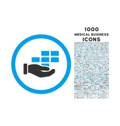 Service schedule rounded icon with 1000 bonus vector