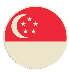 Singapore flag post vector