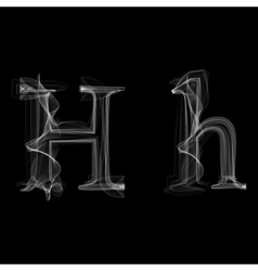 Smoke font letter h vector