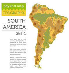 South america physical map elements build your vector
