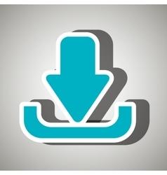 upload arrow design vector image vector image