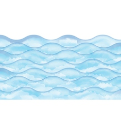 watercolor wave vector image vector image