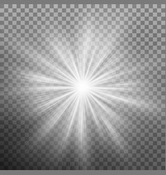 White burst glowing light explosion effect eps 10 vector