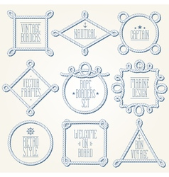 Nautical rope borders vector