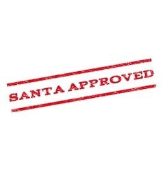 Santa Approved Watermark Stamp vector image