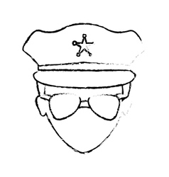 Figure police face icon image vector