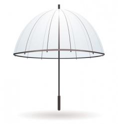 transparent umbrella vector image
