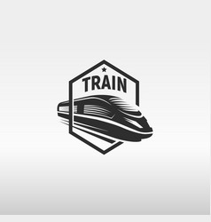 isolated monochrome modern gravure style train in vector image
