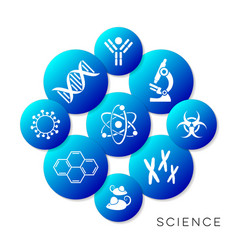 Modern blue science buttons vector