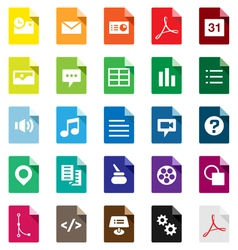 Document File Types vector image