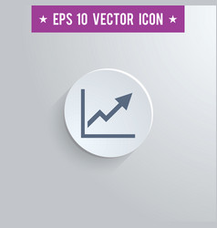 Graph symbol icon on gray shaded background vector