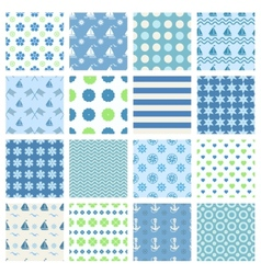 marine seamless patterns vector image
