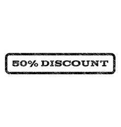 50 percent discount watermark stamp vector image vector image