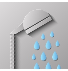 Head shower vector