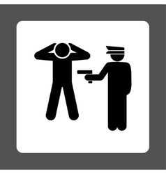 Arrest icon vector