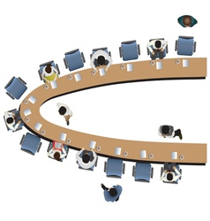 Office meeting top view set 12 vector