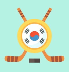 Hockey in south korea vector