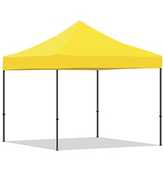 Yellow folding tent vector