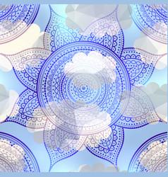 Abstract round mandala pattern vector