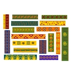 African ethnic ornaments and decorative patterns vector