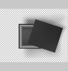 black empty box mock up on transparent background vector image vector image