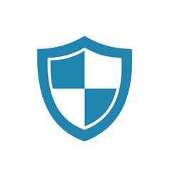 blue high security shield icon on a white vector image vector image