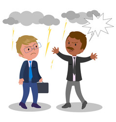 business people arguing vector image