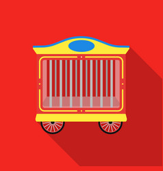 circus wagon icon in flat style isolated on white vector image