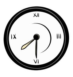 clock icon cartoon vector image