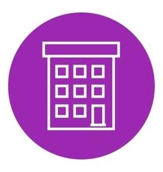 Condominium building line icon vector