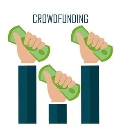 Crowdfunding icon design vector