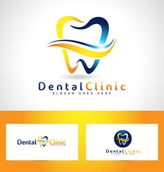 Dental Care Logo Design vector image