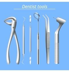 Dentist tools set vector