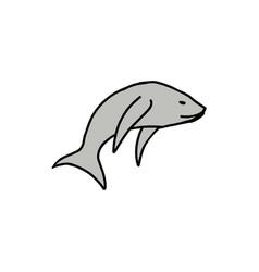 fish cartoon icon vector image
