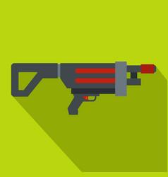 Game gun icon flat style vector