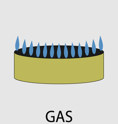 Gas icon flat design concept vector