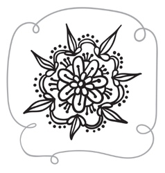 Hand drawing zentangle element with decorative vector
