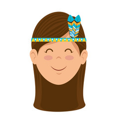 Hippie woman cartoon vector