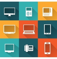 Icons of computers vector image