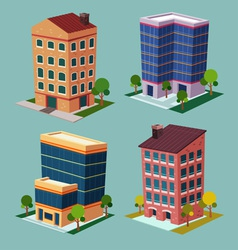 isometric building 2 vector image vector image