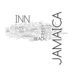 Jamaica inn text background word cloud concept vector
