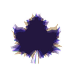 Maple leaf sign colorful icon shaked with vector