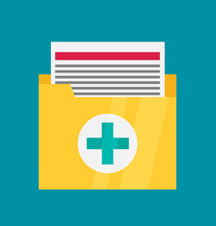 medical files icon in flat style vector image