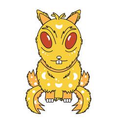 monster-chipmunk vector image vector image