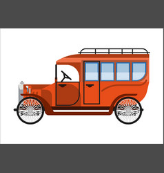 old car or vintage retro collector coach bus vector image vector image