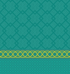 Oriental green arabic seamless pattern set vector image vector image