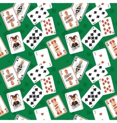Playing cards seamless pattern vector image vector image