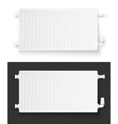 Realistic heating system radiator vector