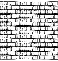 Seamless hand drawn pattern with stripes vector